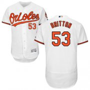 Wholesale Cheap Orioles #53 Zach Britton White Flexbase Authentic Collection Stitched MLB Jersey