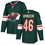Wholesale Cheap Adidas Wild #46 Jared Spurgeon Green Home Authentic Stitched Youth NHL Jersey