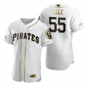 Wholesale Cheap Pittsburgh Pirates #55 Josh Bell White Nike Men's Authentic Golden Edition MLB Jersey
