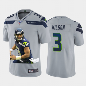 Cheap Seattle Seahawks #3 Russell Wilson Nike Team Hero 2 Vapor Limited NFL Jersey Grey