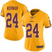 Wholesale Cheap Nike Redskins #24 Josh Norman Gold Women's Stitched NFL Limited Rush Jersey