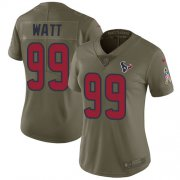 Wholesale Cheap Nike Texans #99 J.J. Watt Olive Women's Stitched NFL Limited 2017 Salute to Service Jersey