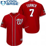 Wholesale Cheap Nationals #7 Trea Turner Red Cool Base 2019 World Series Champions Stitched Youth MLB Jersey