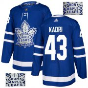 Wholesale Cheap Adidas Maple Leafs #43 Nazem Kadri Blue Home Authentic Fashion Gold Stitched NHL Jersey