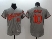 Wholesale Cheap Orioles #10 Adam Jones Grey Flexbase Authentic Collection Stitched MLB Jersey