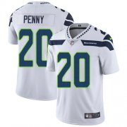 Wholesale Cheap Nike Seahawks #20 Rashaad Penny White Men's Stitched NFL Vapor Untouchable Limited Jersey