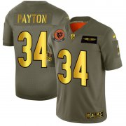 Wholesale Cheap Chicago Bears #34 Walter Payton NFL Men's Nike Olive Gold 2019 Salute to Service Limited Jersey