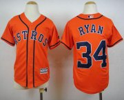 Wholesale Cheap Astros #34 Nolan Ryan Orange Cool Base Stitched Youth MLB Jersey