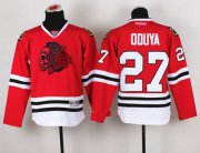 Wholesale Cheap Blackhawks #27 Johnny Oduya Red(Red Skull) Stitched Youth NHL Jersey