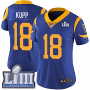 Wholesale Cheap Nike Rams #18 Cooper Kupp Royal Blue Alternate Super Bowl LIII Bound Women's Stitched NFL Vapor Untouchable Limited Jersey