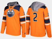 Wholesale Cheap Oilers #2 Andrej Sekera Orange Name And Number Hoodie