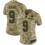 Wholesale Cheap Nike Panthers #9 Graham Gano Camo Women's Stitched NFL Limited 2018 Salute to Service Jersey