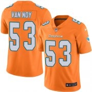 Wholesale Cheap Nike Dolphins #53 Kyle Van Noy Orange Green Youth Stitched NFL Limited Rush Jersey
