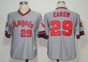 Wholesale Mitchell And Ness 1985 Angels of Anaheim #29 Rod Carew Grey Stitched Throwback Baseball Jersey