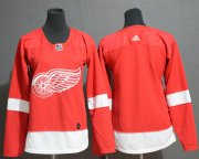 Wholesale Cheap Adidas Red Wings Blank Red Home Authentic Women's Stitched NHL Jersey