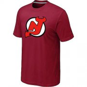 Wholesale Cheap NHL New Jersey Devils Big & Tall Logo T-Shirt Red