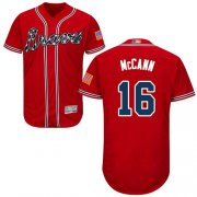 Wholesale Cheap Braves #16 Brian McCann Red Flexbase Authentic Collection Stitched MLB Jersey