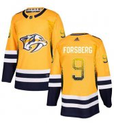 Wholesale Cheap Adidas Predators #9 Filip Forsberg Yellow Home Authentic Drift Fashion Stitched NHL Jersey