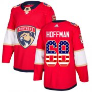 Wholesale Cheap Adidas Panthers #68 Mike Hoffman Red Home Authentic USA Flag Stitched Youth NHL Jersey