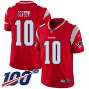 Wholesale Cheap Nike Patriots #10 Josh Gordon Red Men's Stitched NFL Limited Inverted Legend 100th Season Jersey