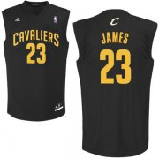 Wholesale Cheap Cleveland Cavaliers #23 LeBron James Black Fashion Replica Jersey