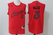 Wholesale Cheap Men's Chicago Bulls #3 Dwyane Wade adidas Red 2016 Christmas Day Stitched NBA Swingman Jersey