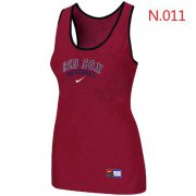 Wholesale Cheap Women's Nike Boston Red Sox Tri-Blend Racerback Stretch Tank Top Red