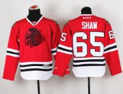 Wholesale Cheap Blackhawks #65 Andrew Shaw Red(Red Skull) Stitched Youth NHL Jersey
