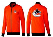 Wholesale Cheap NHL Vancouver Canucks Zip Jackets Orange