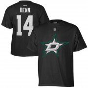 Wholesale Cheap Dallas Stars #14 Jamie Benn Reebok Name and Number Player T-Shirt Black