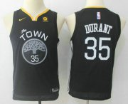Cheap Youth Golden State Warriors #35 Kevin Durant Black 2017-2018 Nike Swingman Stitched NBA Jersey