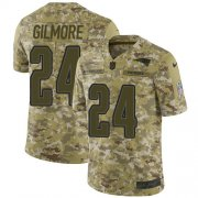 Wholesale Cheap Nike Patriots #24 Stephon Gilmore Camo Men's Stitched NFL Limited 2018 Salute To Service Jersey