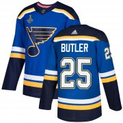 Wholesale Cheap Adidas Blues #25 Chris Butler Blue Home Authentic 2019 Stanley Cup Champions Stitched NHL Jersey