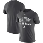 Wholesale Cheap New York Yankees Nike Practice Performance T-Shirt Anthracite