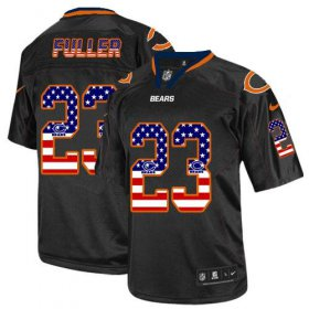 Wholesale Cheap Nike Bears #23 Kyle Fuller Black Men\'s Stitched NFL Elite USA Flag Fashion Jersey
