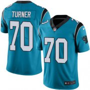 Wholesale Cheap Nike Panthers #70 Trai Turner Blue Men's Stitched NFL Limited Rush Jersey