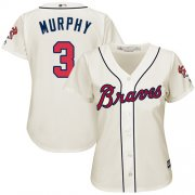 Wholesale Cheap Braves #3 Dale Murphy Cream Alternate Women's Stitched MLB Jersey