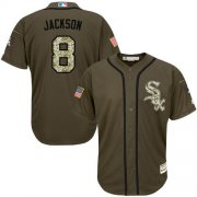 Wholesale Cheap White Sox #8 Bo Jackson Green Salute to Service Stitched MLB Jersey