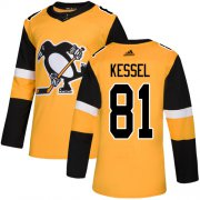 Wholesale Cheap Adidas Penguins #81 Phil Kessel Gold Alternate Authentic Stitched NHL Jersey
