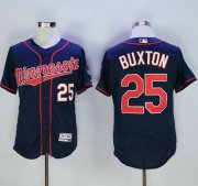 Wholesale Twins #25 Byron Buxton Navy Blue Flexbase Authentic Collection Stitched Baseball Jersey