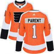 Wholesale Cheap Adidas Flyers #1 Bernie Parent Orange Home Authentic Women's Stitched NHL Jersey
