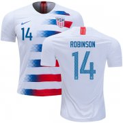 Wholesale Cheap USA #14 Robinson Home Soccer Country Jersey