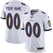 Wholesale Cheap Nike Baltimore Ravens Customized White Stitched Vapor Untouchable Limited Youth NFL Jersey