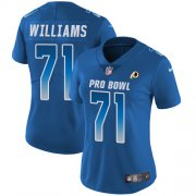Wholesale Cheap Nike Redskins #71 Trent Williams Royal Women's Stitched NFL Limited NFC 2018 Pro Bowl Jersey