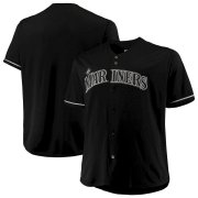 Wholesale Cheap Seattle Mariners Majestic Big & Tall Pop Fashion Jersey Black