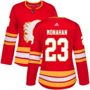 Wholesale Cheap Adidas Flames #23 Sean Monahan Red Alternate Authentic Women's Stitched NHL Jersey