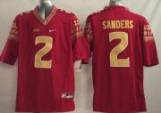 Wholesale Cheap Florida State Seminoles #2 Deion Sanders 2014 Red Limited Jersey