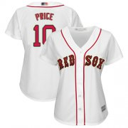Wholesale Cheap Red Sox #10 David Price White Home Women's Stitched MLB Jersey