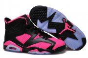 Wholesale Cheap Air Jordan 6 For Women Shoes Black/pink