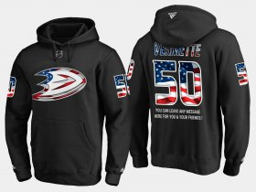 Wholesale Cheap Ducks #50 Antoine Vermette NHL Banner Wave Usa Flag Black Hoodie